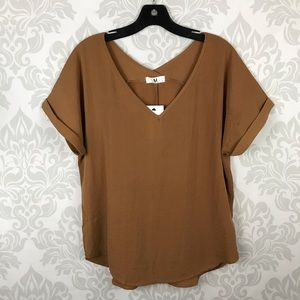 Amelia James Brown Loose Boxy Tee Top